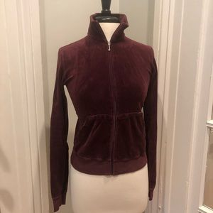 Juicy Couture Velour Track Jacket, Large
